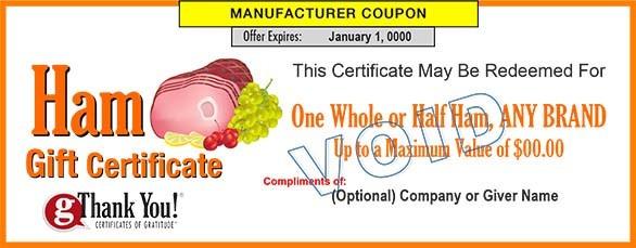 Ham Gift Certificates