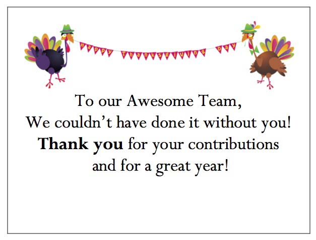 Celebrating Turkeys Enclosure Card