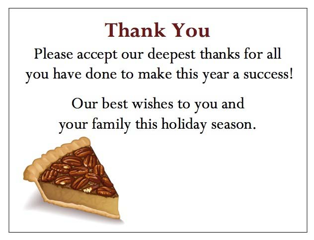 Pecan Pie Enclosure Card