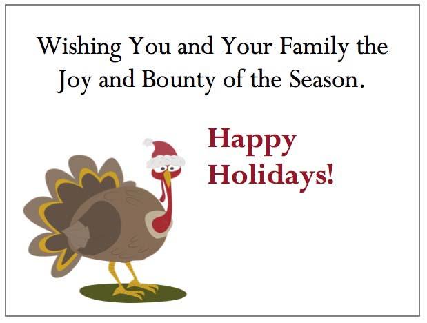 Holiday Turkey Enclosure Cards-gThankYou