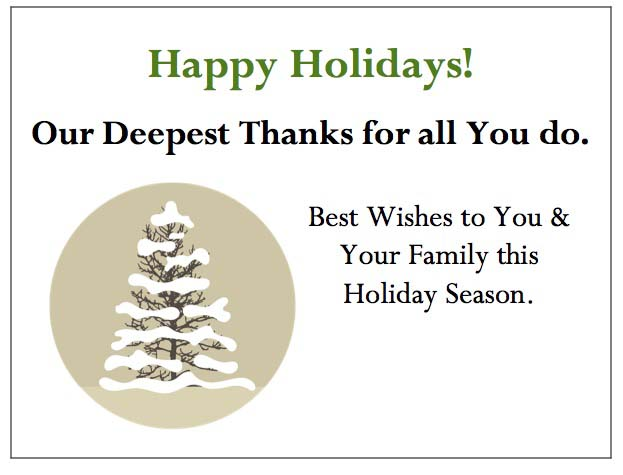 Snowy Tree Enclosure Card-gThankYou