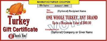 gThankYou! Turkey Gift Certificate
