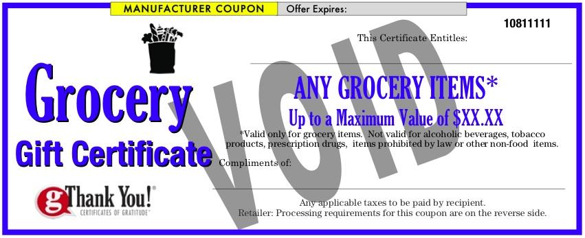gThankYou Grocery Gift Card