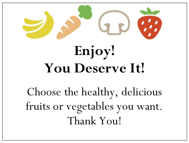 Share Fruit and Vegetable Gift Certificates to Reward and Encourage Workplace Well-Being Practices