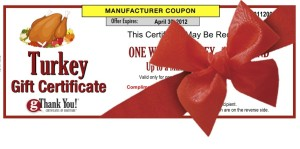 Turkey Gift Certificate - Employee Thanksgiving Gift