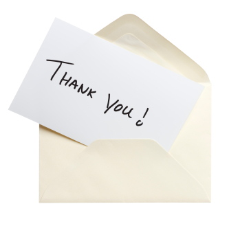 Put the thanks in Thanksgiving with a thoughtful note of appreciation