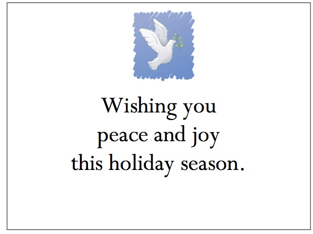 gThankYou! Peace Dove Enclosure Card