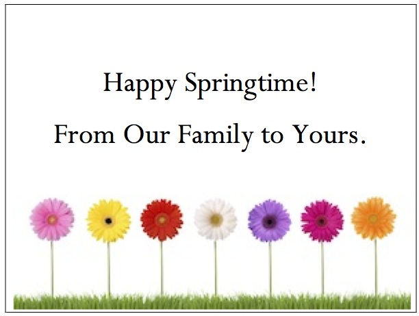 gThankYou! - Spring Flowers Enclosure Card