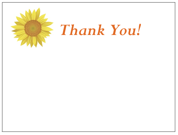 gThankYou! - Sunflower Enclosure Card