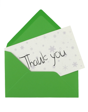 gThankYou! Winter Thank You Note