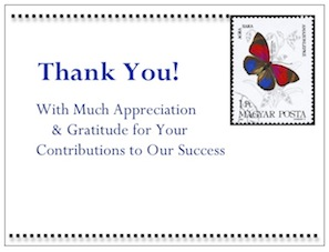 """Butterfly Stamp"" by gThankYou! Employee Gifts"