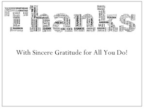 """""""Thanks Text"""" by gThankYou! Employee Gifts"""