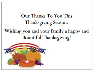 "Thanksgiving Thank You Cards - ""American Thanksgiving"""