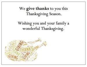 "Thanksgiving Thank You Cards - ""Give Thanks Turkey"""