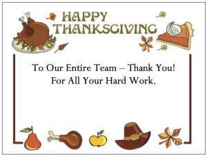 "Thanksgiving Thank You Cards - ""Thanksgiving Border"""