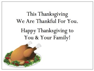 "Thanksgiving Thank You Cards - ""Thanksgiving Turkey"""