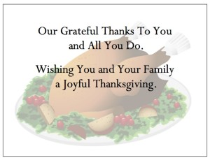 "Thanksgiving Thank You Cards - ""Watermark Turkey"""