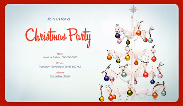 Dinner Party - Christmas-Party-Evite-Invitation