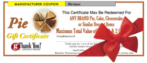 Holiday employee gifts - gThankYou! Pie Certificates