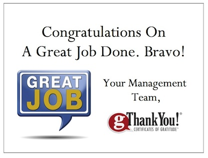 Recognize Employees with gThankYou! Thank You Cards