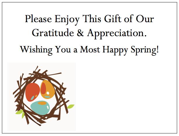 Employee Thank You Cards - Birds Nest