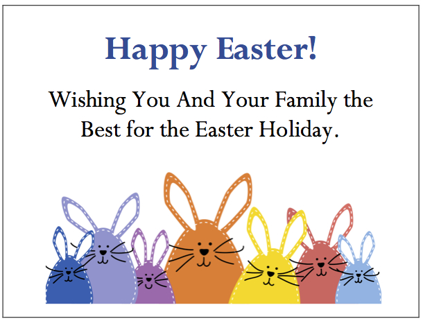 Employee Thank You Cards - Easter Bunnies