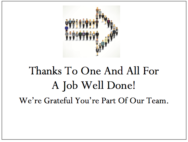 Employee Thank You Card - Right Direction