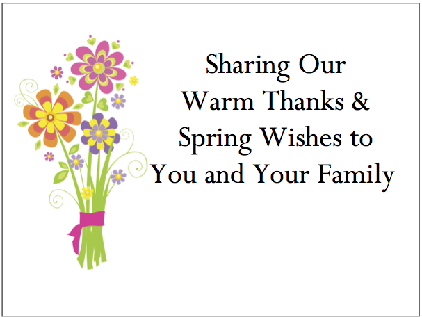 Employee Thank You Cards - Spring Bouquet