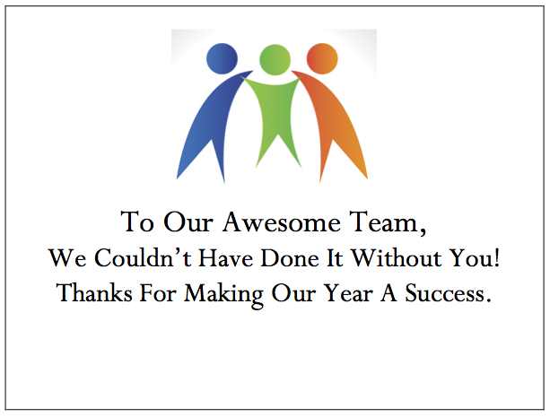Employee Thank You Card - Teamwork