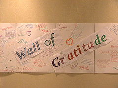 "Culture of Gratitude: A ""Wall of Gratitude"" (via Flickr.com/klkay)"