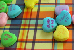 motivating employees - candy hearts