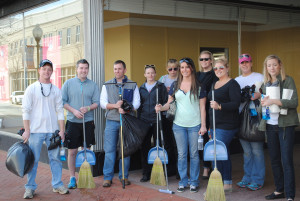 Retaining talent via community service initiatives
