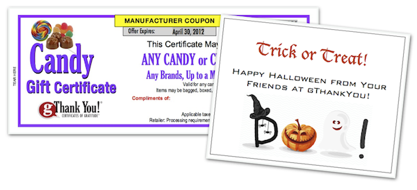 Best Halloween Team Building idea - Candy and a sincere note of thanks!