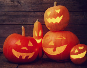 Carving pumpkins is a great halloween team building project!