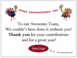 Share your Thanksgiving Gratitude in the workplace with free, customizable 'Thank You' Cards