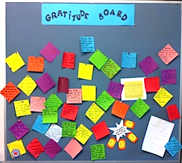 How can YOU teach workplace kindness? Start a gratitude board!