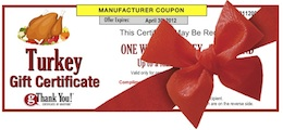 gThankYou! Turkey Gift Certificate for your Thanksgiving Gift for Employees