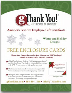 Making your employee holiday thank you easy! Download our free winter holiday card design catalog now.