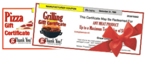 Business Thank You Gift Certificates by gThankYou!