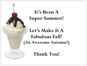 Share Your Summer Thanks with Ice Cream Gift Certificates