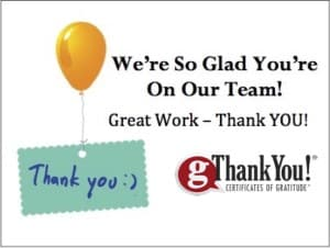 Share your staff appreciation gifts with a thoughtful thank you note!
