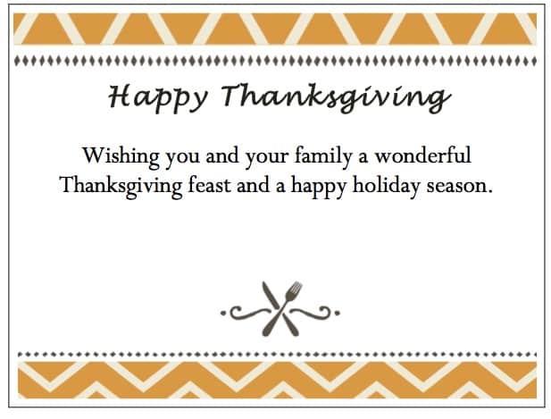 gThankYou! Thanksgiving Enclosure Cards