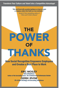 "Your thank you fuels company culture - read The Power of Thanks""!"