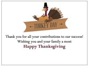 Buying Turkeys for Employees - Free Thank You Cards from gThankYou