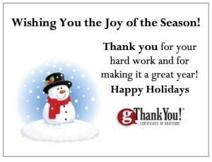 Enrich your employee holiday gifts with free Enclosure Cards from gThankYou!