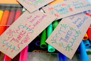 "Celebrate International Day of Awesomeness with hand-made ""Thank You"" cards!"