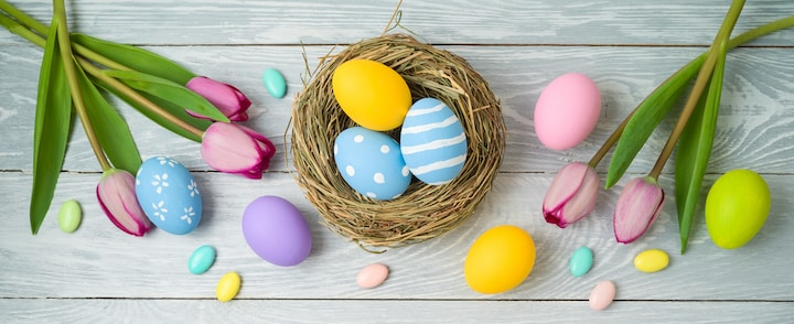 Workplace easter celebrations are easy with decorations celebrating spring!
