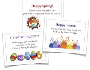 Share your appreciation with a free gift enclosure card along with your Easter Ham Gifts!
