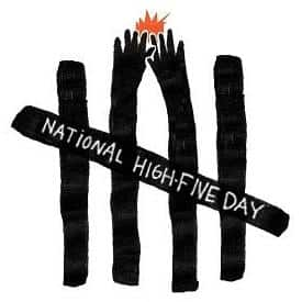 Raise workplace spirits by celebrating national High Five Day!
