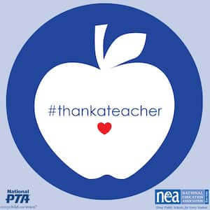 #thankateacher today and all week long!